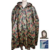 BudK Military Surplus Swiss Camo Wet Weather Poncho