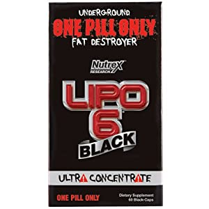Nutrex Research Lipo 6 Black Ultra Concentrate Diet Supplement Capsules 60 Count by Nutrex Research