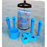 BEACH TACS - KEEP EVERYTHING NEAT AND CLEAN AT THE BEACH - COLOR PINK (MADE IN THE U.S.A.)