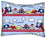 SheetWorld Crib / Toddler Percale Baby Pillow Case - Fun Train Tracks - Made In USA