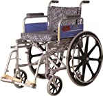 Vissco Invalid Folding Wheel Chair with Mag Wheels Universal