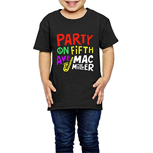 AK79 Kids 2-6 Years Old Boys And Girls Mac Miller Party On Fifth Ave Tee Shirt Black Size 5-6 Toddler (Bernie Mac Season 2 compare prices)
