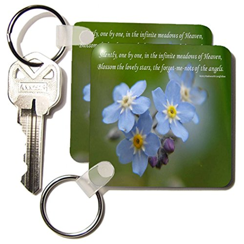 Kc_47094_1 Taiche - Photography - Forget-Me-Not - Forget -Me -Not - Alzheimers Disease, Forget Me Not, Friendship, Grandparents Day, Love, Myosotis - Key Chains - Set Of 2 Key Chains