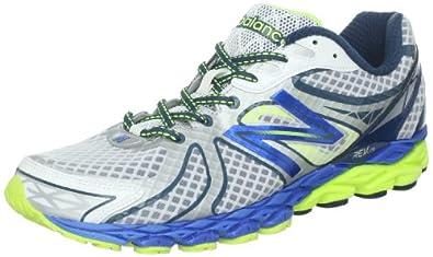 New Balance Mens Running Shoes M870WB3 White/Blue 8 UK, 42 EU