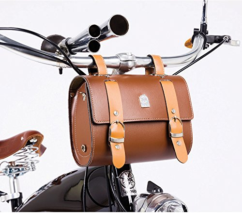 Comfortable Soft Vintage Bicycle Saddle or Handlebar Tools Bag 0