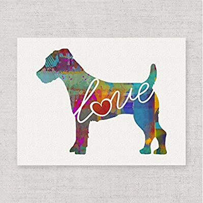 Jack Russell Terrier Love - Watercolor-Style Print / Poster on Fine Art Paper - Can Be Personalized