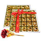 Valentine Chocholik's Luxury Chocolates - Heaven Of Love Chocolate Box With 24k Red Gold Rose