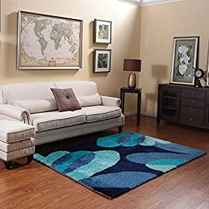 Ustide Dark Blue Foor Area Rug For Living Room