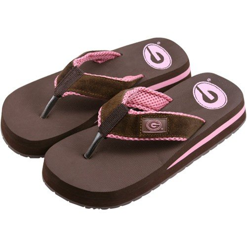 Cheap Georgia Bulldogs Two Tone Ladies Suede Flip Flops (B000RUQ6XI)