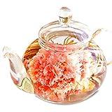 RIMTAE(リムテー) 優雅セット 花咲く 工芸茶10種とガラスティーポット ハロウィン