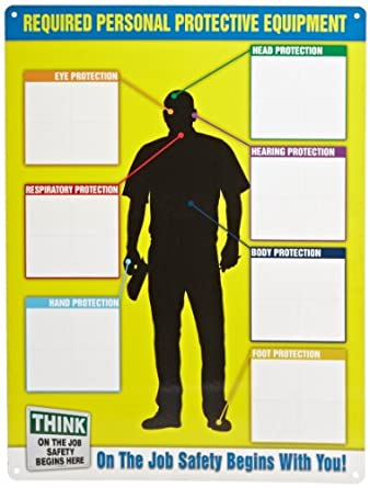 Accuform Signs Ppe357 Ppe Id Chart 24 Quot Length X 18 Quot Width