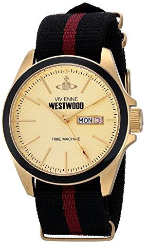 Vivienne Westwood VV068GDBK - Reloj analógico de cuarzo para hombre con correa de tela, color multicolor