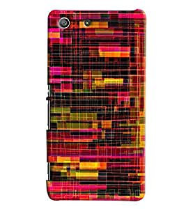 Blue Throat Confusing Pattern Printed Designer Back Cover/ Case For Sony Xperia M5