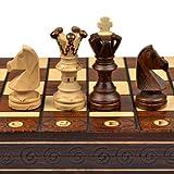 Chess Set - Ambassador High Detail European Wooden Handmade Set - 21 x21