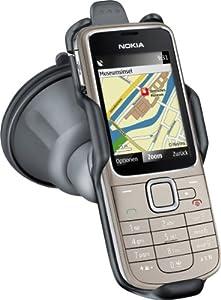 Nokia 2710 Navigation Edition Handy (GPS, Ovi Karten, 2 MP, Gerätehalter CR-118, KFZ-Ladekabel DC-4) warm silver