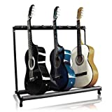 Musicians Supply 7 Multi Guitar Bass Folding Stand Stage 7 Holder Rack Guitar Stand