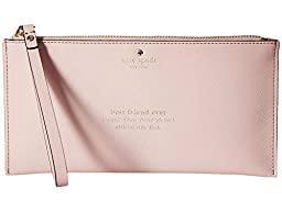 Kate spade wedding belles adra zip pouch rosey dawn