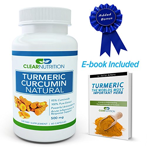 Turmeric Curcumin Natural(95% Curcuminoids)500 Mg, Extract Root Powder Capsules Pills- Dietary Supplement - Powerful Anti-Inflammatory, Antioxidant Support Health Benefits-100% Satisfaction Guarantee-The World'S Most Important Herb front-20474