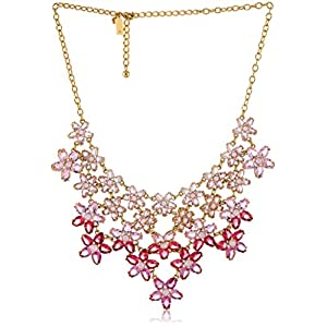 kate spade new york Ombre Bouquet Roses Multi-Statement Necklace, 18