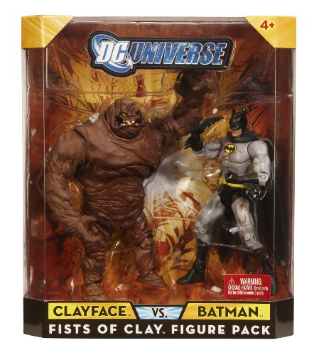  : Mattel DC Universe Batman &#47; Clayface Figures 2-Pack