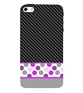 Dotted Fashion Lines 3D Hard Polycarbonate Designer Back Case Cover for Apple iPhone 5