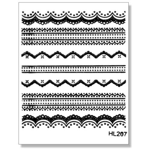 3D Sticker Borten schwarz 203-07 selbstklebende 3D-Borten