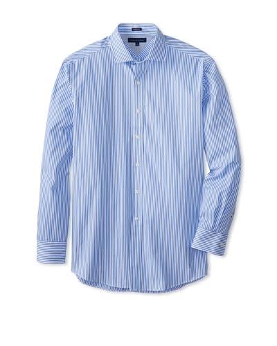 Tommy Hilfiger Men's Regular Fit Striped Spread Collar Dress Shirt