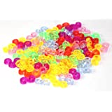 Value Pack Colorful S clips for Rainbow Loom Bands 100 Pack
