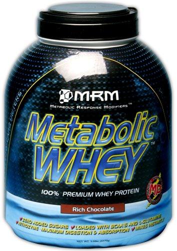 MRM Metabolic Whey Protein Supplement, Rich Chocolate, 5-Pound Jar