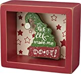 The Elf Made Me Do it - Primitives by Kathy Christmas Box Decor