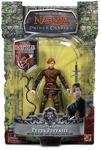 Buy Low Price Jakks Pacific The Chronicles of Narnia Prince Caspian 4 Inch Tall Action Figure with Real Battle Action Move – Castle Raid Peter Pevensie with Sword and Grappling Hook (B001F6WMK4)