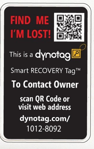 Dynotag Webgps Enabled Qr Smart Golfsports Stickers Ready To Use Set Of  Identical Black Item Sku Skubjnpltrg Click Hover Scroll For Larger