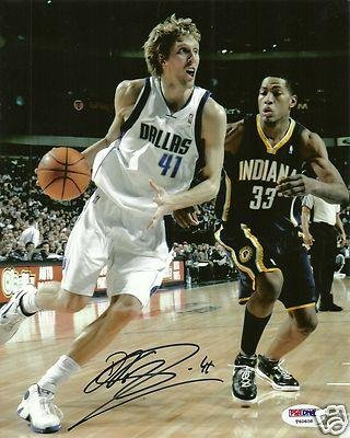 Dirk Nowitzki Signed Picture - 8X10 Germany Coa - Psa/Dna Certified - Autographed Nba Photos