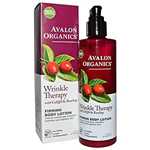 Avalon Organics Wrinkle Therapy with CoQ10 & Rosehip Firming Body Lotion, 8 Ounce (Pack of 2)