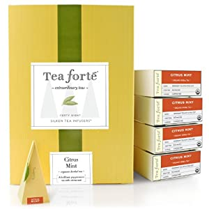 Tea Forte Event Box - 48 Silken Pyramid Infusers - Citrus Mint