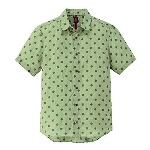 (タケオ キクチ)TAKEO KIKUCHI リネンドットシャツ カーキ系(125) 04(LL)