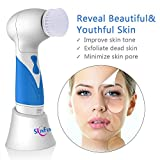 Skin Scrubber Cleansing Face and Body Brush Microdermabrasion Exfoliator-Pore Minimizer-Acne Scar Treatment-Dark Spot Corrector-Wrinkle Fade away-Facial Massager by SKINFUN