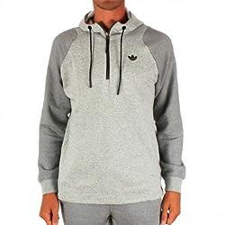 adidas Men's Hooded Cotton Sweatshirt (4055011311078_AB9254_M_Grey and Black)