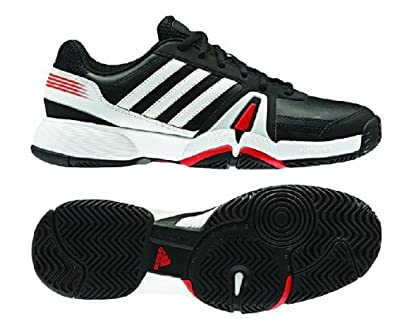 Buy Adidas Mens Bercuda 3 Tennis Shoe-Black White Hi-Res Red by adidas