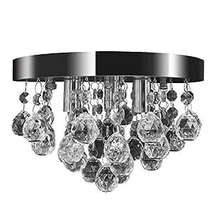... Kristall Lampe Chrom Leuchte: Amazon.de: Küche & Haushalt