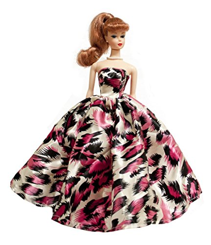Pink Feather Print Prom Dresses for Barbie Doll