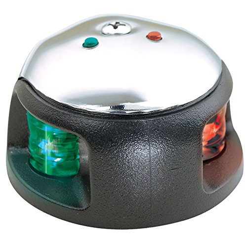 Attwood Led 1-Mile Deck Mount Navigation Bow Light, Stainless Steel