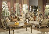 Sicili 2 Pieces Traditional European Style Collection Sofa, Love Seat Set