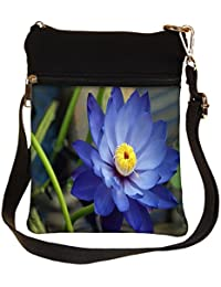 Snoogg Red Small Flower Cross Body Tote Bag / Shoulder Sling Carry Bag