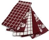 Ritz 5-Piece Egyptian Kitchen Towel Set, Fruit Ming Red