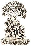 Ovin Brass Radha Krishna Idol - (13.97 Cms X 8.89 Cms X 17.78 Cms, Black & White)
