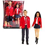 Mattel Year 2008 Barbie TV Series REBELDE RBD 2 Pack 12 Inch Doll Set - GIOVANNI MENDEZ with Elite Way School Uniform, Denim Pants and Shoes Plus LUPITA FERNANDEZ with Elite Way School Uniform, Denim Skirts and Shoes (N2757)