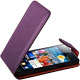 Purple Leather Flip Case Xylo-Cover for the Samsung Galaxy S2 / S 2 / S II (i9100) Mobile Phone.
