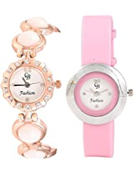 CB Fashion Combo Of Analog Multicolour Dial Women's Watch (RW165)