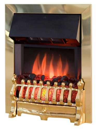 Royal Cozy Fire RCF4 Electric Fire, Brass